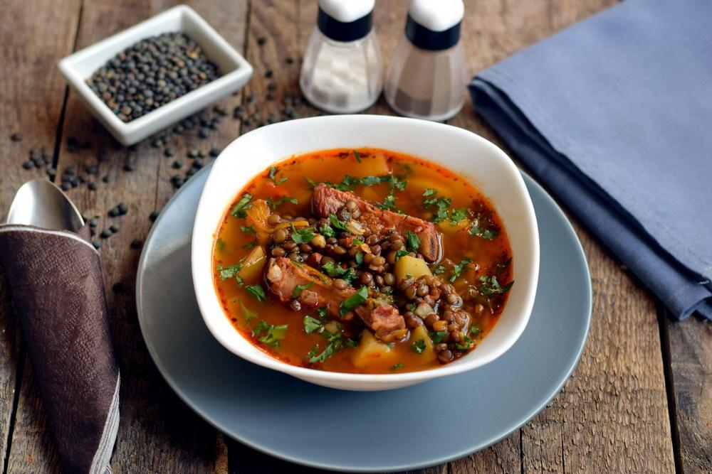 Суп украсить зеленью