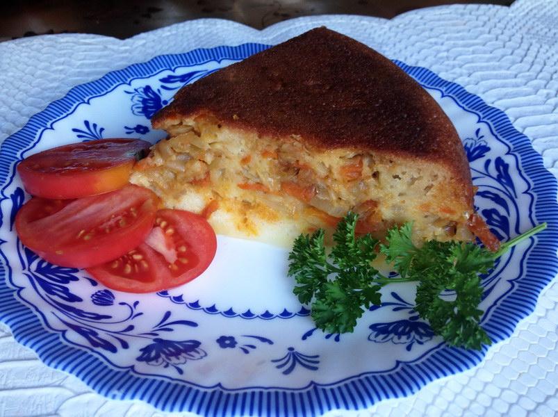 Простой и быстрый капустный пирог в мультиварке