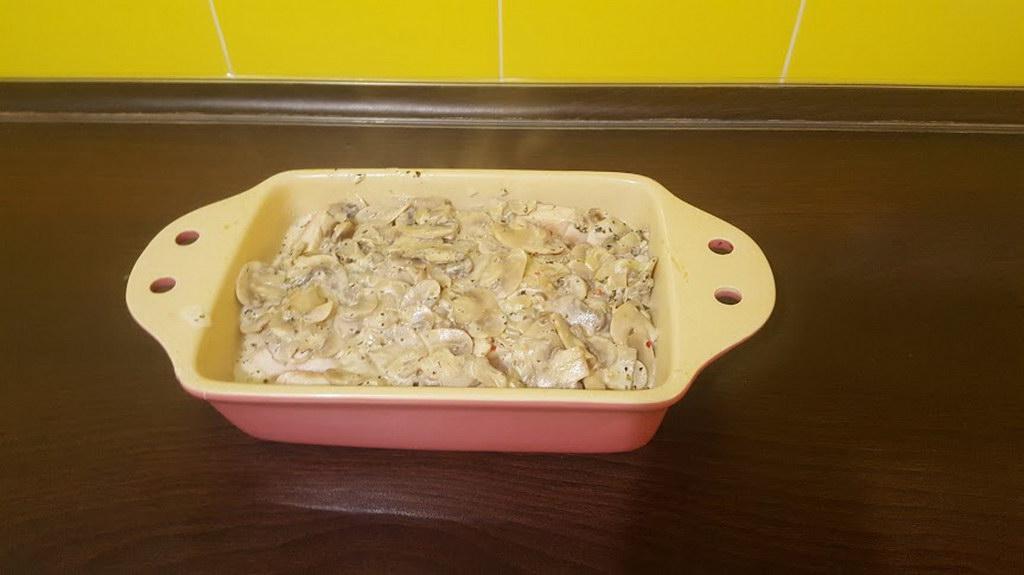 Филе индейки в сливочно-грибном соусе