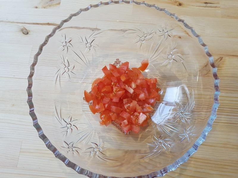 1ый слой помидоры