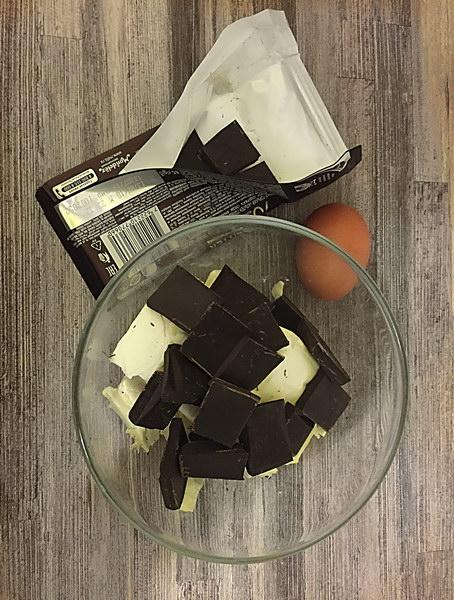 Растопить шоколад и масло