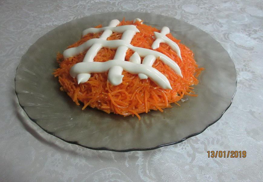 Слой моркови по-корейски