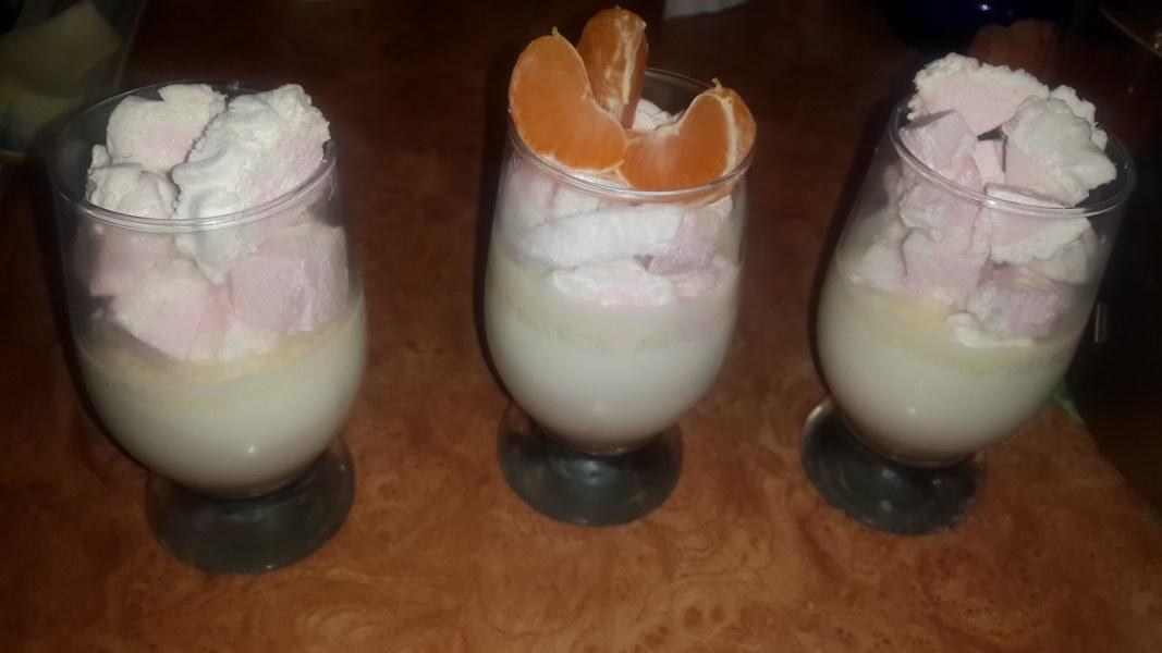Праздничный воздушный десерт «Снежинка»