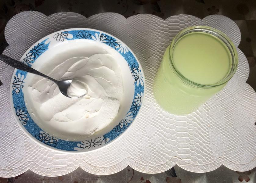 Готовый сыр и сыворотка