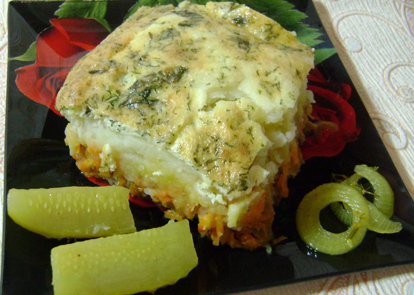 Картофельная запеканка с фаршем — быстрый ужин на всю семью