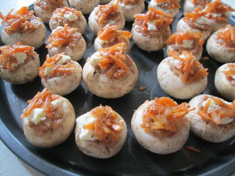 Как сделать вкусные грибы еще вкуснее! - Рецепт фаршированных грибных шляпок