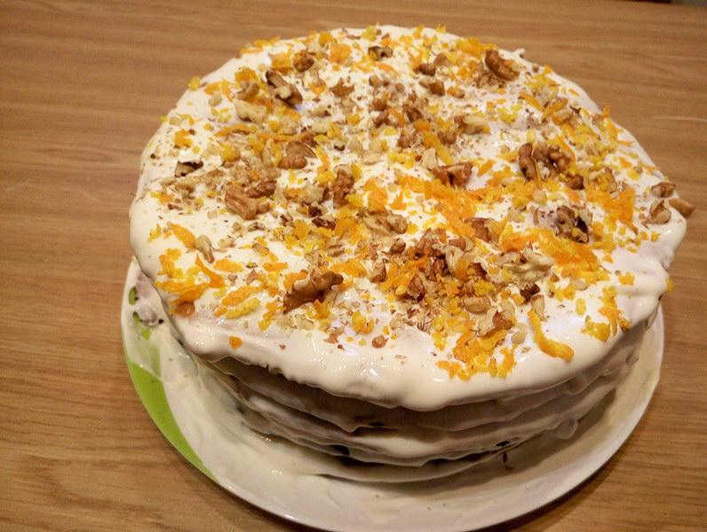 Торт «Медовик» с апельсиновым вкусом