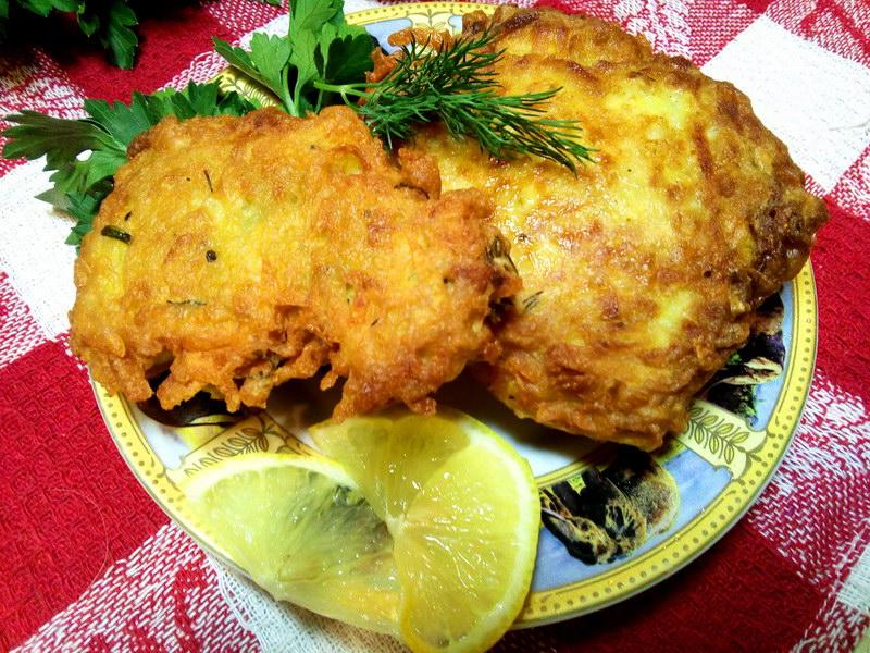 Рыба в картофельной стружке