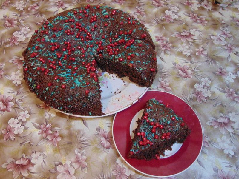 Шоколадный манник с маком, мой фирменный рецепт или как простой пирог стал шедевром