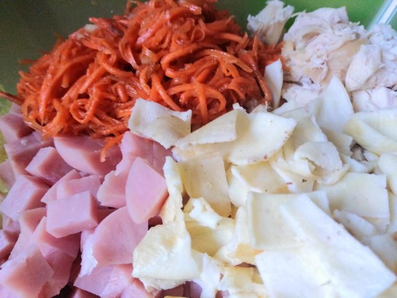 «Анастасия» - новый сытный салат (2 вида мяса) из простых продуктов