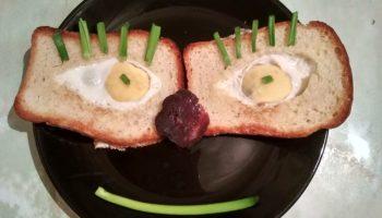 Бутерброд «Глаза черепашки-ниндзя»