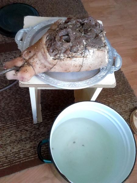 Сыровяленый свиной окорок. Рецепт комбинированной засолки, готов через 10 дней