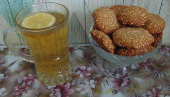 Рецепт «Домашнего печенья». Моё открытие: сочетание кунжута с кукурузной мукой, долго хранится и быстро готовить