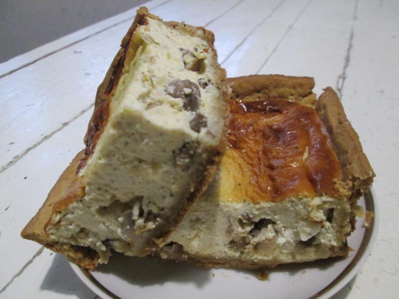 Грибной киш – изумительная французская выпечка