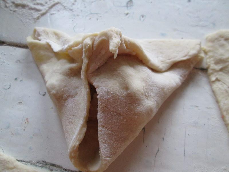 Пирожки «Треугольники» на картофельном тесте