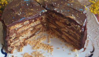 Тот самый, знаменитый торт «Twix». Внуки говорят – это просто «бомба»!
