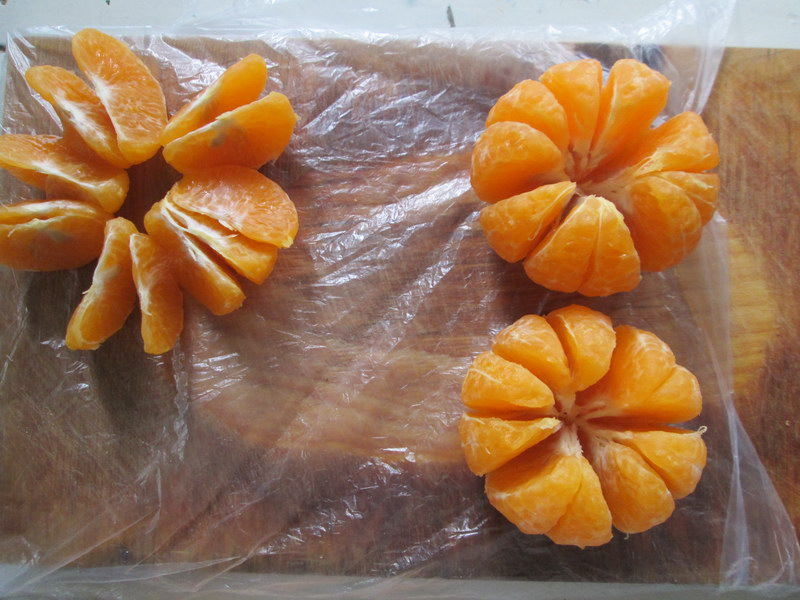 Пирожные из мандаринов. Или, как начинить мандарины шоколадом