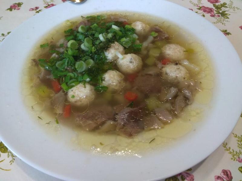 Грибной суп с сырными шариками