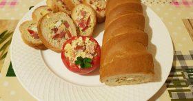 Моя новая закуска: Нарезные медальоны бутерброды из багета