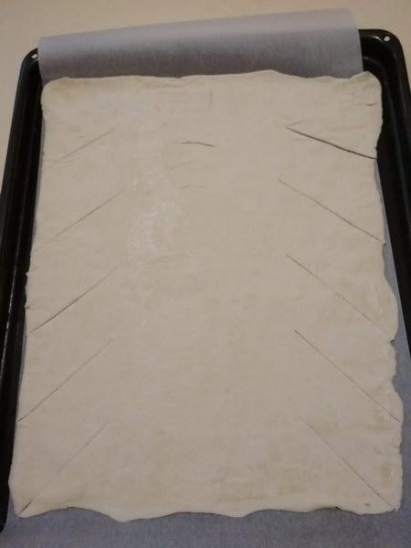 Закусочный пирог-косичка с курицей, грибами и сыром без дрожжей: пошаговый фото рецепт
