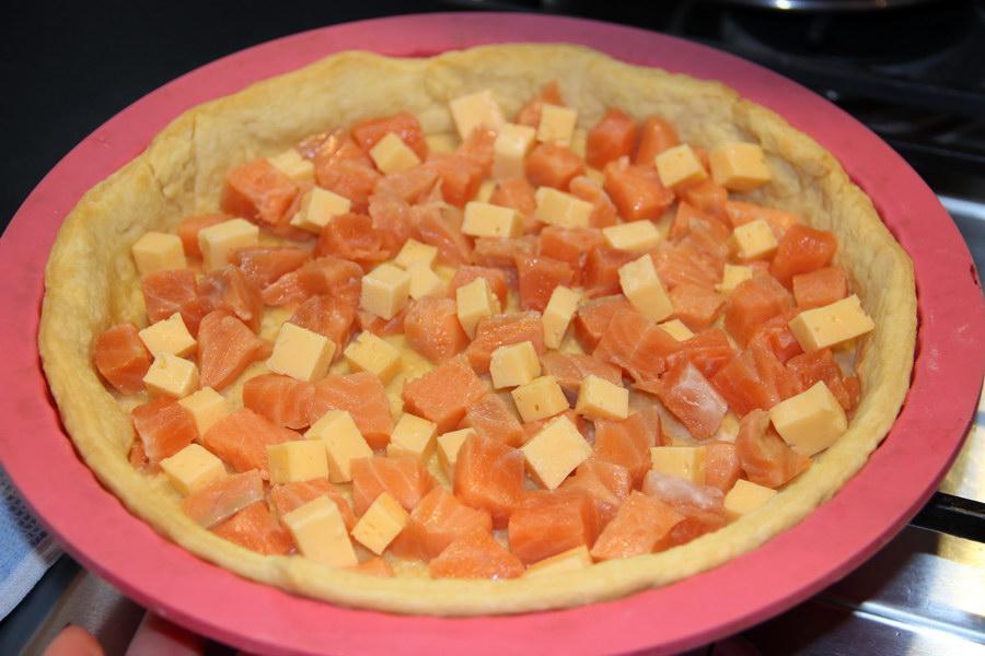 Пирог «Киш Лорен» с солёной начинкой (сёмга)