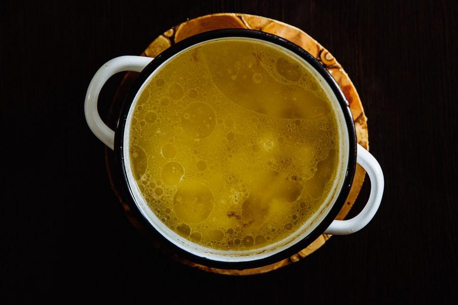 Как приготовить сырный суп с мясом - пошаговый фото рецепт