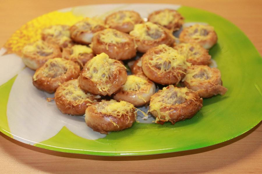 Любимая семейная закуска «Сушки с мясом и сыром»