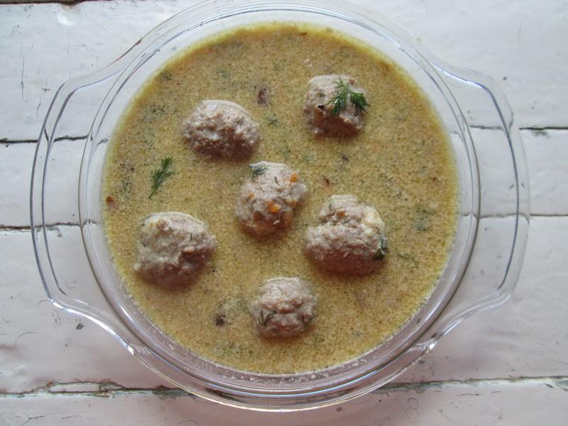 Нежный суп с мясными шариками