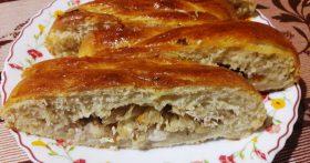Закусочный пирог-плетёнка — замечательный вариант для завтрака или перекуса