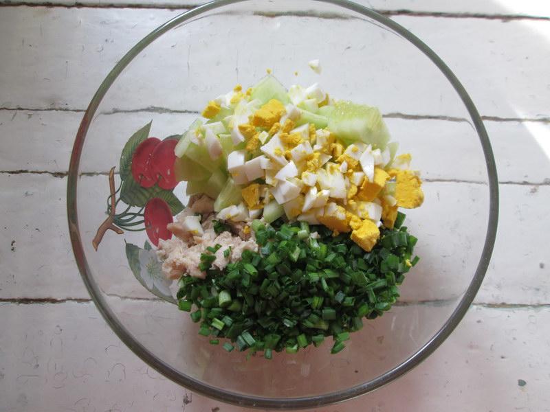 Базовый рецепт окрошки на сыворотке