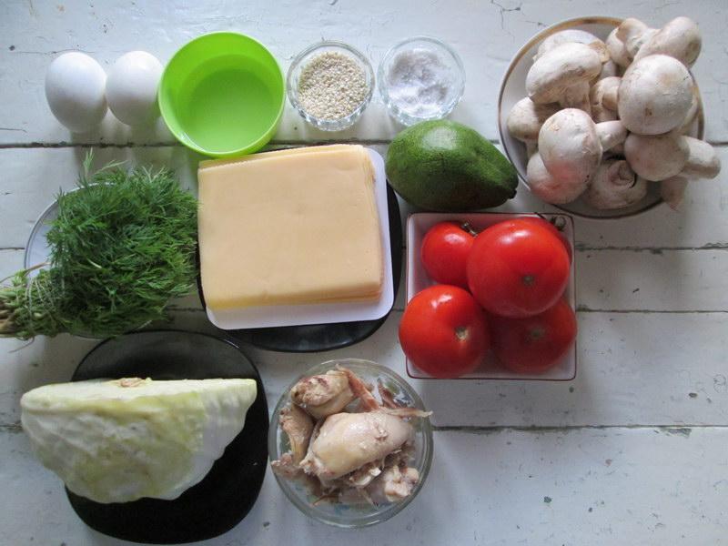 «Салат из авокадо, как праздник» и Варианты для фуршетной закуски