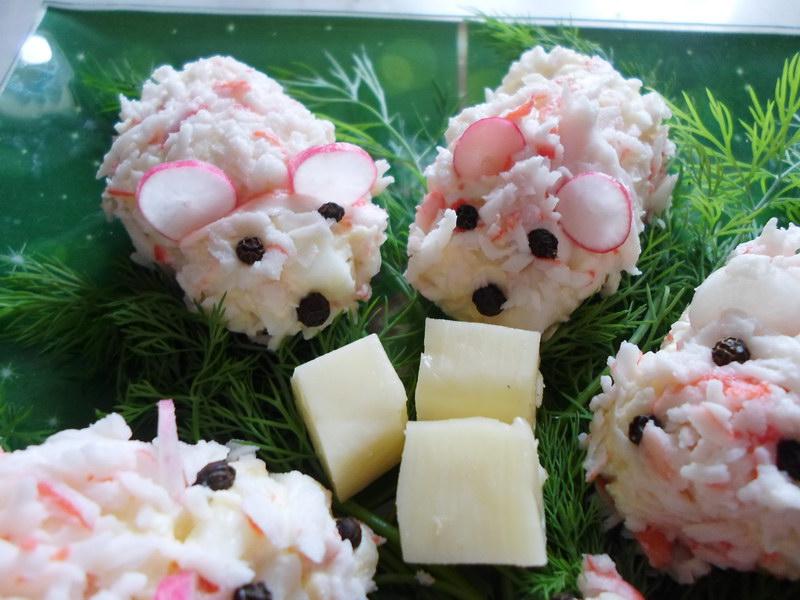 Закуска «Строптивые мышата» - оригинальное блюдо из крабовых палочек