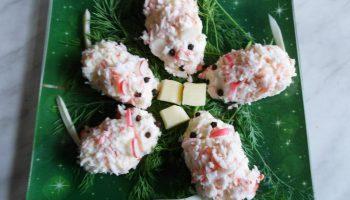 Закуска «Строптивые мышата» — оригинальное блюдо из крабовых палочек