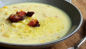 Сытный мясной суп с кукурузой и сливками — необыкновенно вкусно