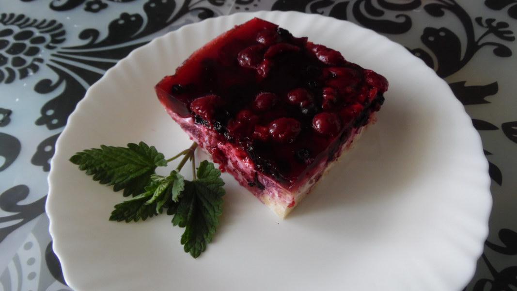 Домашний желейный торт с ягодами. Как Венский пирог из магазина, только без «химии»