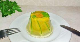Пошаговый рецепт «Паштета в праздничной подаче» — красиво и вкусно, при этом не обветриться и не потемнеет