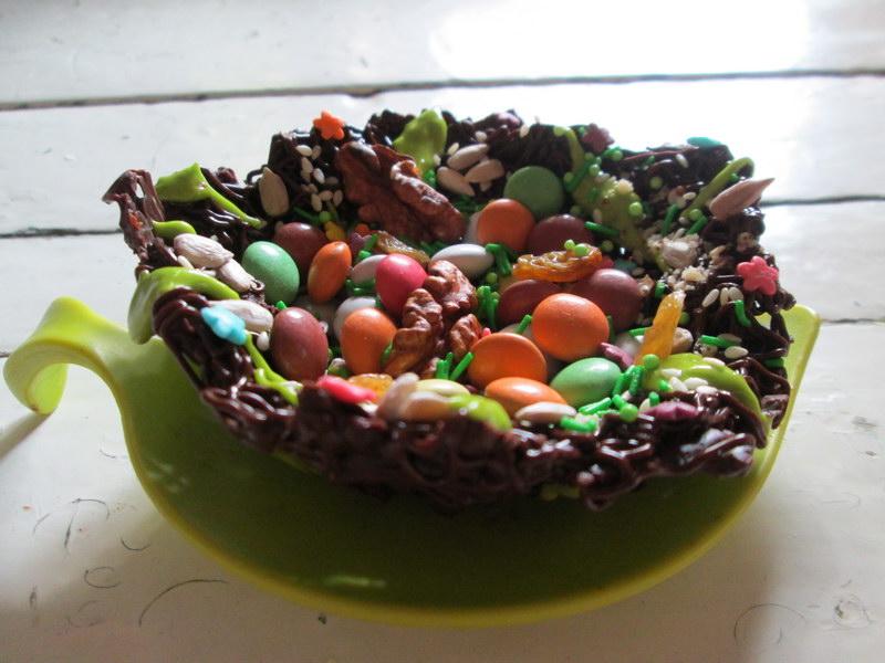Шоколадные гнезда – блюдо для красивого праздника
