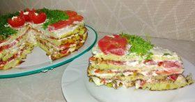 Рецепт «Торт из кабачков» — всегда готовлю такую закуску летом к праздничному столу