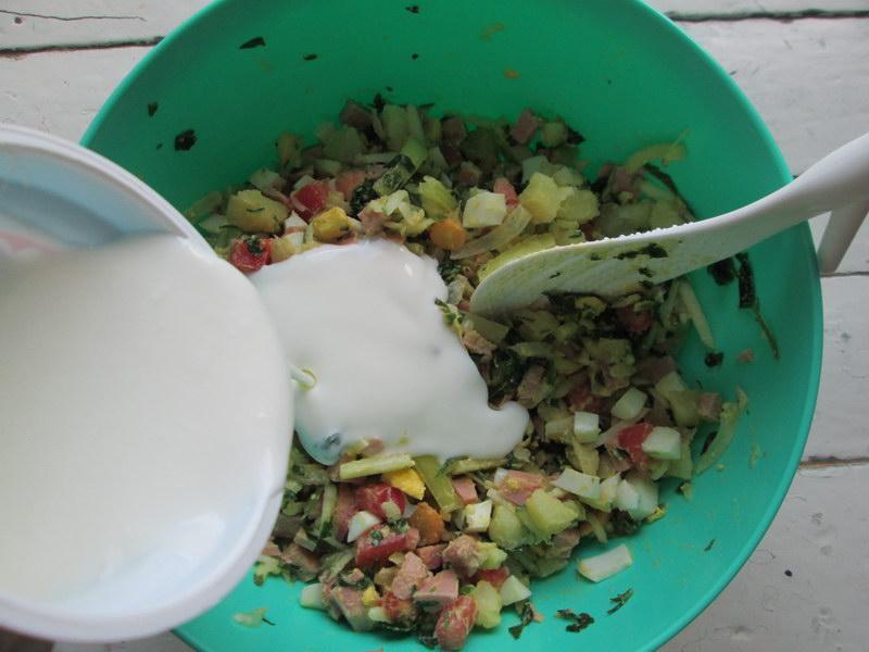 Окрошка на йогурте, как учила меня мама