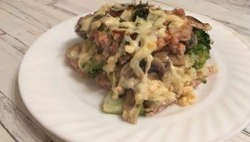 Моя идеальная запеканка: фарш + овощи и 30 минут духовки