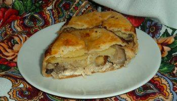Готовлю татарский пирог «Кубете» с грибами. Удался на славу