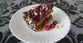 Торт «Вишнёвое удовольствие» — коржи пышные без соды