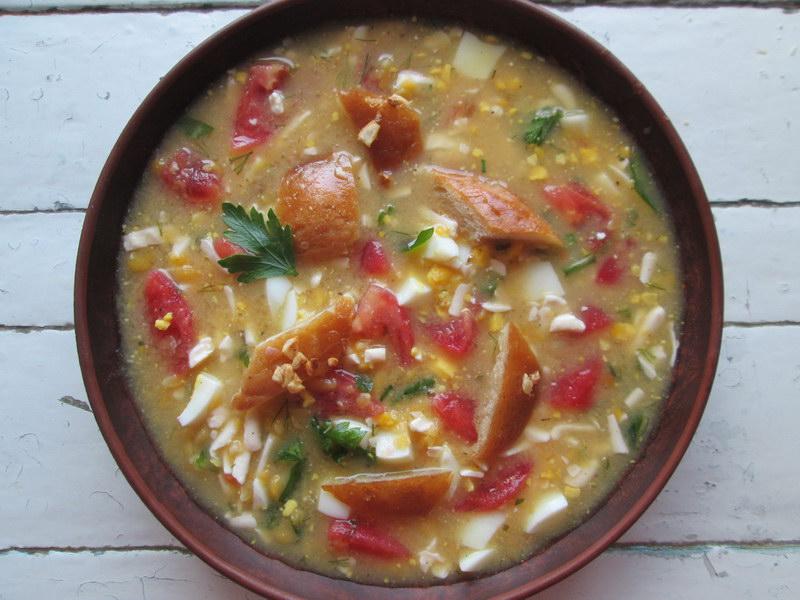 Холодный суп из гороха