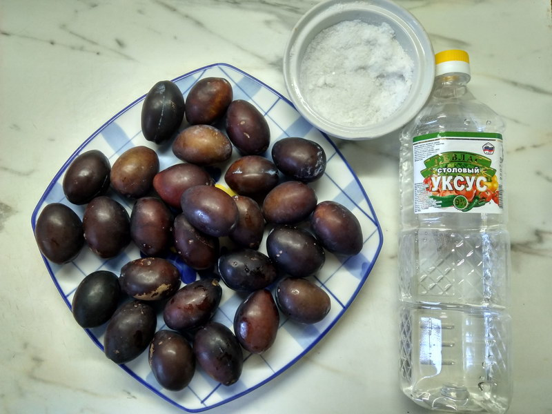 Оригинальная закуска «Маринованная слива венгерка» (не варенье и готова уже через пару часов)