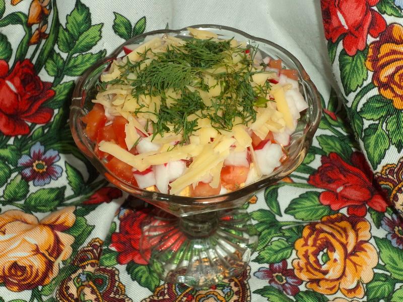 Делаю простой, но вкусный салат-коктейль