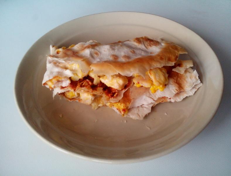 Хрустящая закуска в лаваше по-корейски