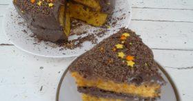 Тыквенно-шоколадный торт. Даже те, кто к тыкве равнодушен, от него были в полном восторге