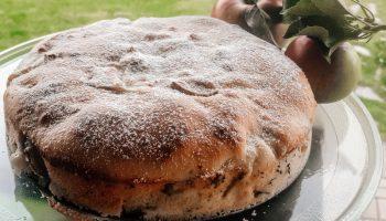 Сезон яблок удался и в очередной раз готовлю пирог, но рецепт «не стандартный» — шарлотка на сметане