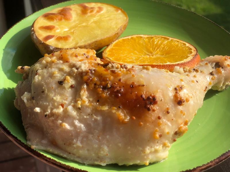 Пряная курочка в апельсиново-медовом маринаде
