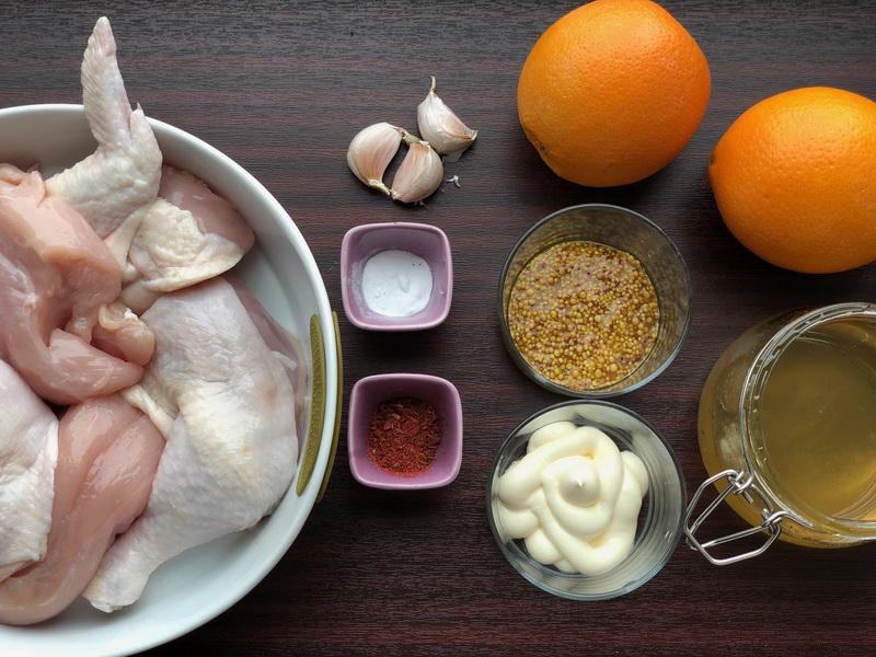 Курочка в апельсиново-медовом маринаде. Рецепт удался, просто вкуснейшее сочетание